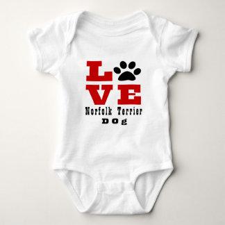 Love Norfolk Terrier Dog Designes Baby Bodysuit