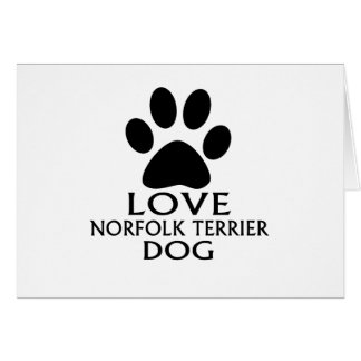LOVE NORFOLK TERRIER DOG DESIGNS CARD