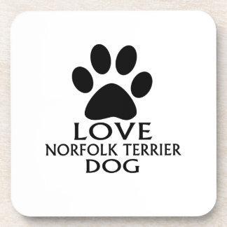 LOVE NORFOLK TERRIER DOG DESIGNS COASTER