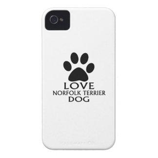 LOVE NORFOLK TERRIER DOG DESIGNS iPhone 4 Case-Mate CASE