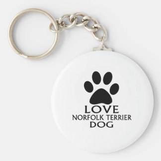LOVE NORFOLK TERRIER DOG DESIGNS KEYCHAIN