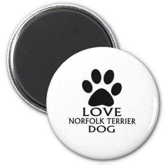 LOVE NORFOLK TERRIER DOG DESIGNS MAGNET