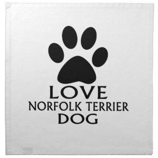 LOVE NORFOLK TERRIER DOG DESIGNS NAPKIN