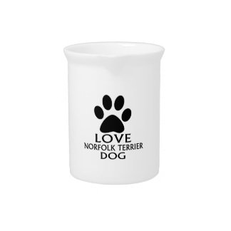 LOVE NORFOLK TERRIER DOG DESIGNS PITCHER