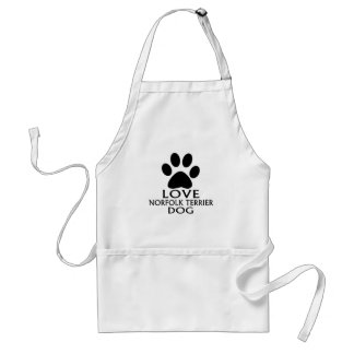LOVE NORFOLK TERRIER DOG DESIGNS STANDARD APRON