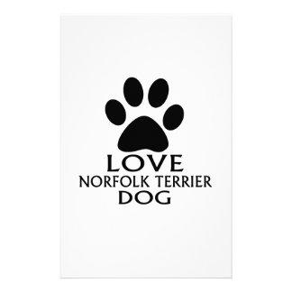 LOVE NORFOLK TERRIER DOG DESIGNS STATIONERY