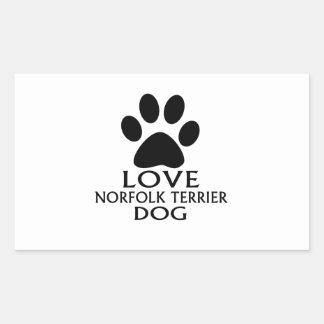 LOVE NORFOLK TERRIER DOG DESIGNS STICKER