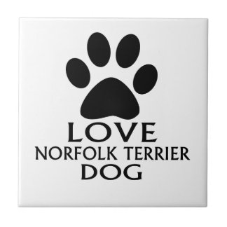 LOVE NORFOLK TERRIER DOG DESIGNS TILE