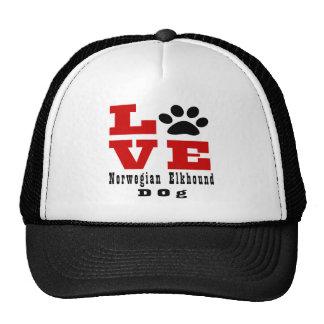 Love Norwegian Elkhound Dog Designes Trucker Hat