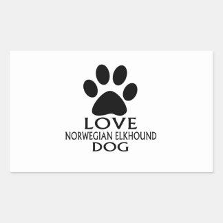 LOVE NORWEGIAN ELKHOUND DOG DESIGNS STICKER