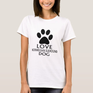 LOVE NORWEGIAN ELKHOUND DOG DESIGNS T-Shirt