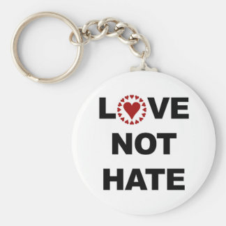 LOVE NOT HATE BASIC ROUND BUTTON KEYCHAIN