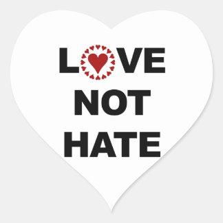LOVE NOT HATE HEART STICKER