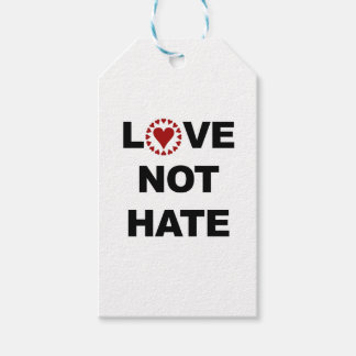 LOVE NOT HATE PACK OF GIFT TAGS