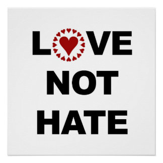 Love Not Hate Perfect Poster