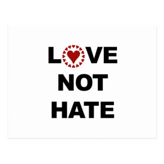 LOVE NOT HATE POSTCARD