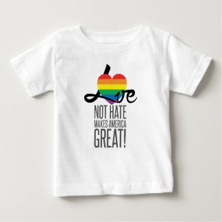 Love Not Hate (Rainbow) Baby Jersey T-Shirt