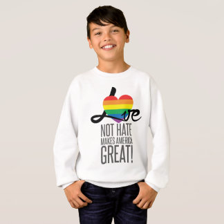 Love Not Hate (Rainbow) Boy's Sweatshirt