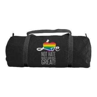 Love Not Hate (Rainbow) Dark Duffel Bag