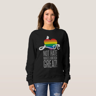 Love Not Hate (Rainbow) Dark Women's Sweatshirt