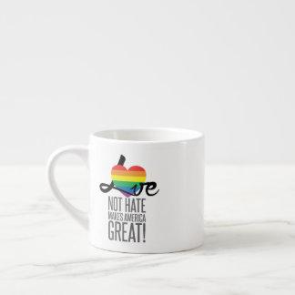 Love Not Hate (Rainbow) Espresso Mug