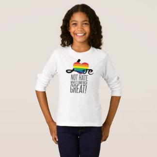 Love Not Hate (Rainbow) Girl's Long Sleeve T-Shirt