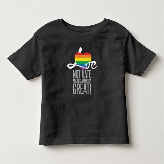 Love Not Hate (Rainbow) Toddler Dark Jersey Tee