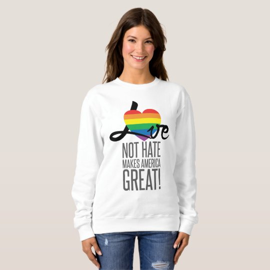 Love Not Hate (Rainbow) Women's Basic Sweatshirt