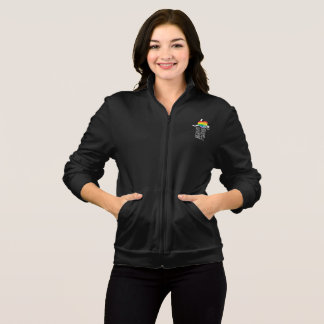 Love Not Hate (Rainbow) Women's Dark Fleece Jacket