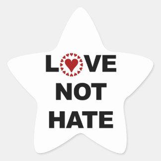 LOVE NOT HATE STAR STICKER