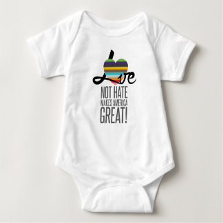 Love Not Hate (SWM) Baby Bodysuit