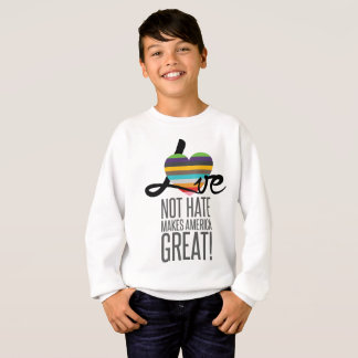 Love Not Hate (SWM) Boy's Sweatshirt