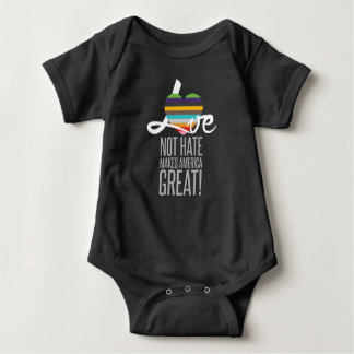 Love Not Hate (SWM) Dark Baby Bodysuit