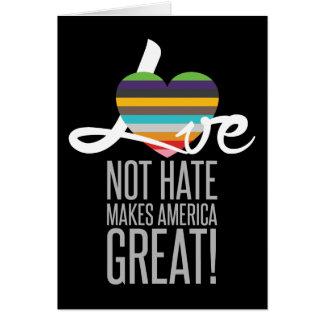 Love Not Hate (SWM) Dark Greeting Card