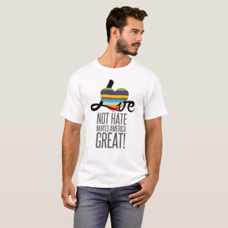 Love Not Hate (SWM) Men's Basic T-Shirt