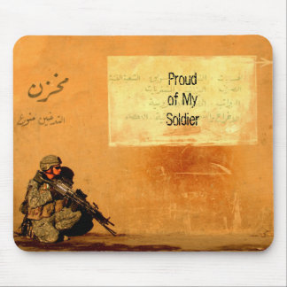 Love Note on a Wall Proud Military Soldier Custom Mouse Pad