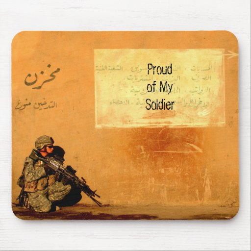 Love Note on the Wall Military Soldier Mouse Pads