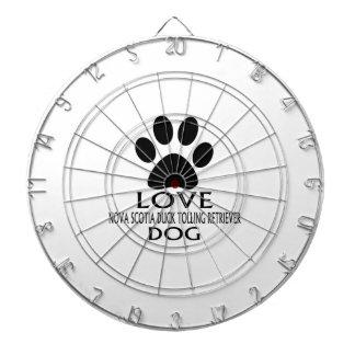 LOVE NOVA SCOTIA DUCK TOLLING RETRIEVER DOG DESIGN DARTBOARD