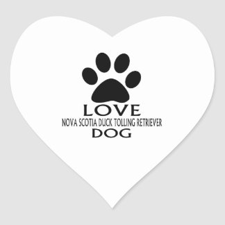 LOVE NOVA SCOTIA DUCK TOLLING RETRIEVER DOG DESIGN HEART STICKER
