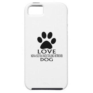LOVE NOVA SCOTIA DUCK TOLLING RETRIEVER DOG DESIGN iPhone 5 CASE