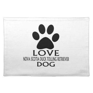 LOVE NOVA SCOTIA DUCK TOLLING RETRIEVER DOG DESIGN PLACEMAT