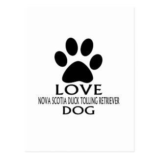 LOVE NOVA SCOTIA DUCK TOLLING RETRIEVER DOG DESIGN POSTCARD