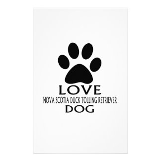 LOVE NOVA SCOTIA DUCK TOLLING RETRIEVER DOG DESIGN STATIONERY