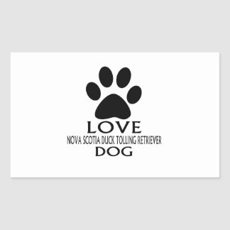 LOVE NOVA SCOTIA DUCK TOLLING RETRIEVER DOG DESIGN STICKER