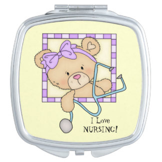 Love Nursing Bear compact mirror