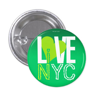 Love NYC Live In NYC Button Green