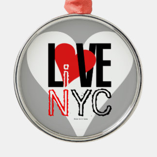 Love NYC Live In NYC Ornament Grey