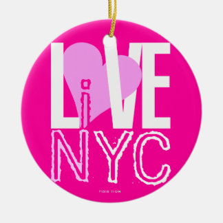 Love NYC Live In NYC Ornament Pink Orange
