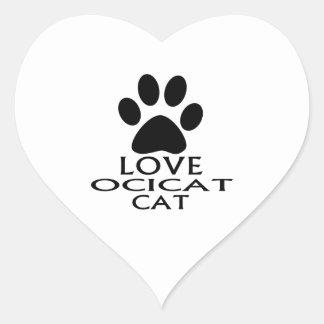 LOVE OCICAT CAT DESIGNS HEART STICKER