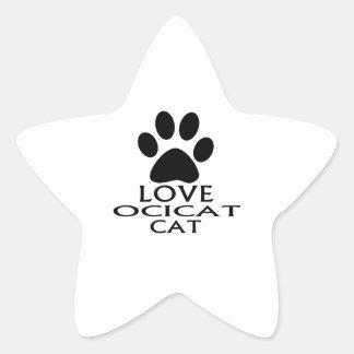 LOVE OCICAT CAT DESIGNS STAR STICKER
